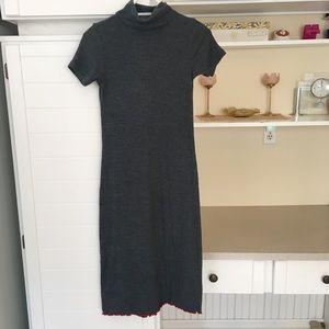Vintage Grey Midi Dress